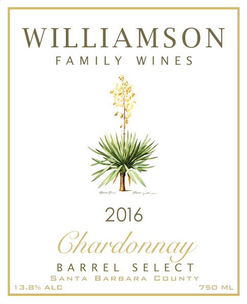 Williamson Family Wines - Chardonnay Barrel Select [Front] (2016)