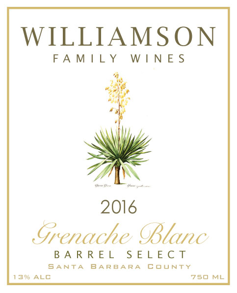 Williamson Family Wines - Grenache Blanc Barrel Select [Front] (2016)