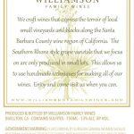 Williamson Family Wines - Grenache Blanc Barrel Select [Back] (2016)