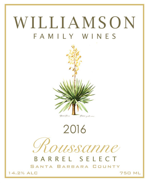 Williamson Family Wines - Roussanne Barrel Select [Front] (2016)