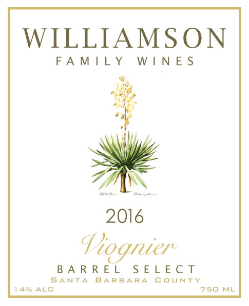 Williamson Family Wines - Viognier Barrel Select [Front] (2016)