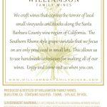 Williamson Family Wines - Viognier Barrel Select [Back] (2016)
